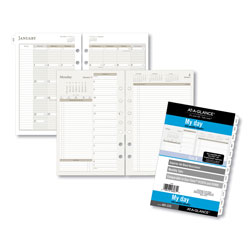 Day Runner PRO Recycled Two-Page-per-Day Planning Pages, 5-1/2 x 8-1/2,, 2013