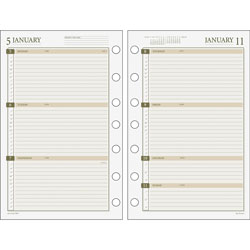 "Day Runner Weekly Dated Calendar Refill, F/Pro Buss Sys, 5 1/2"" x 8 1/2"""