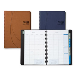 "Daytimer Monthly Planner, Notebook, 2PPM, 9-1/8"" x 11-1/8"" x 5/8"" Blue"
