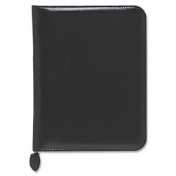 Daytimer Organizer Starter Set Verona Leather Binder, 5 1/2x8 1/2, Black