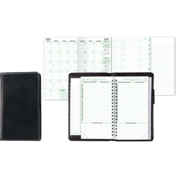 Daytimer Organizer Starter Set, Verona Leather Wallet, 3 1/2 x 6 1/2, Black