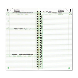 Daytimer Original Dated Two-Page-per-Day Organizer Refill, Jan.-Dec., 3-1/2 x 6-1/2, 2015