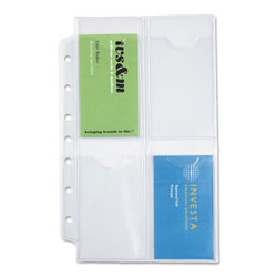 Daytimer Business Card Holders for Looseleaf Planners, 5 1/2 x 8 1/2, 5/Pack