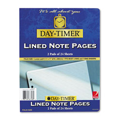 Daytimer Lined Pages, 8 1/2 x 11