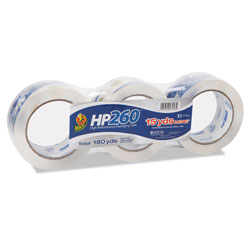 "Henkel Consumer Adhesives High Performance Clear Carton Sealing Tape, 2"" x 60 Yards, 3"" Core, 3 Rolls/Pack"