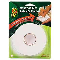 "Manco Permanent Foam Mounting Tape, 3/4"" x 15 ft., White"