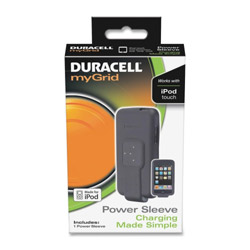 Duracell Charging Power Sleeve, for iPod Touch