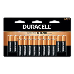 Duracell Coppertop Alkaline Batteries, Resealable, AA, 20/Pack