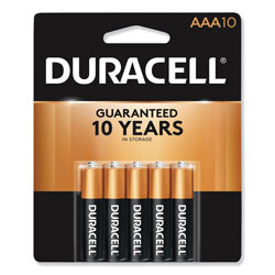 Duracell Coppertop Alkaline Batteries, AAA, 10/Pack