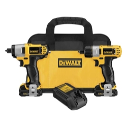 Dewalt Tools 12 Volt Lithium Ion Screwdriver/Impact Kit