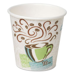 Dixie 10 Oz Hot Paper Cups, Coffee Design, Carton of 500