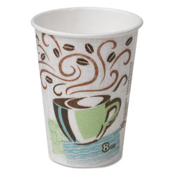 Dixie PerfecTouch Hot Cups, Paper, 8oz, Coffee Dreams Design, 50/Pack