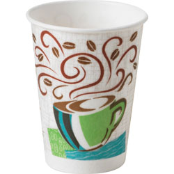 Dixie 8 Oz Hot Paper Cups, Coffee Design, Pack of 25