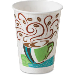 Dixie 16 Oz Hot Paper Cups, Coffee Design, Pack of 25