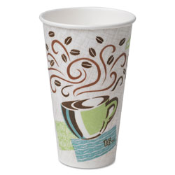 Dixie 16 Oz Hot Paper Cups, Coffee Design, Pack of 500