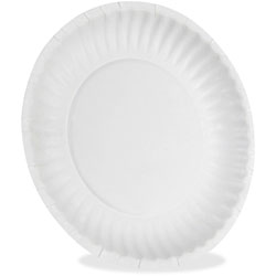 "Dixie Disposable 9"" Paper Plates, White, Carton of 1000"