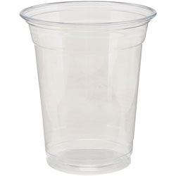 Dixie 12 Oz Cold Plastic Cups, Clear, Pack of 25