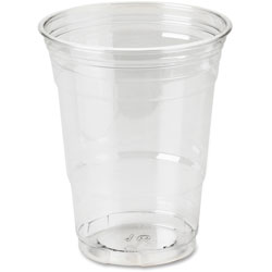 Dixie 16 Oz Cold Plastic Cups, Clear, Pack of 25