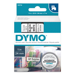 Dymo Adhesive Name Badge Label with Clip Hole, White, 4 x 2 1/4, 250/Box