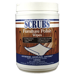 ITW Dymon Dykem 92065 Scrubs Furniture Polish Wipes