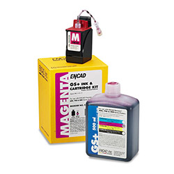 Encad Kodak 21296300 Ink Jet Replacement Cartridge, GS Plus, Novajet 600/700/800, 20ml, Magenta