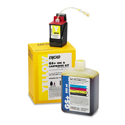 Encad Kodak 21296400 Ink Jet Replacement Cartridge, GS Plus, Novajet 600/700/800, 20ml ink, Yellow