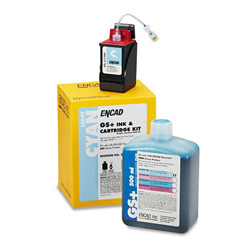Encad Ink jet cartridge kit, GS Plus, Novajet 850, 500ml + 20ml, light cyan
