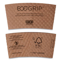 Eco-Products EG2000 Brown Biodegradable Coffee Cup Jacket/Insulator
