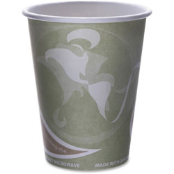 Eco-Products Evolution World PCF 12 Oz Hot Paper Cups, Green, Case of 500