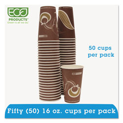 Eco-Products 16 Oz Hot Paper Cups, Purple, Pack of 50