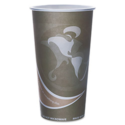 Eco-Products 20 Oz Hot Paper Cups, Gray, Pack of 50