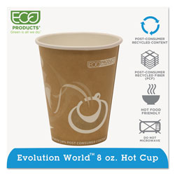 Eco-Products Evolution World 24% Recycled Content Hot Cups - 8oz.