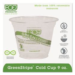 Eco-Products 9 Oz Cold Plastic Cups, Clear, Pack of 1000