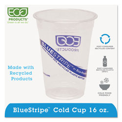 Eco-Products 18 Oz Cold Plastic Cups, Clear, Pack of 1000