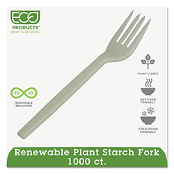 Eco-Products EPS002 White Potato Starch Plastic Forks