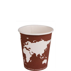 Eco-Products 8 Oz Hot Paper Cups, World Design, Pack of 1000