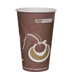 Eco-Products 8 Oz Hot Paper Cups, Coffee Design, Pack of 1000