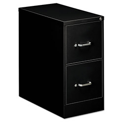 OIF Two-Drawer Economy Vertical File, 15w x 26-1/2d x 29h, Black