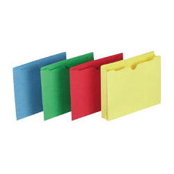 "Smead File Jackets, 2"" Exp, Letter, Straight Cut, Assorted"