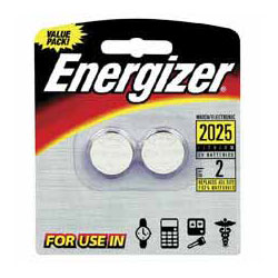Energizer Watch/Electronic/Specialty Battery, 2025, 3V, 2/Pack