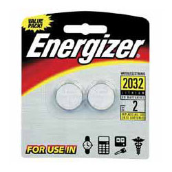 Energizer Watch/Electronic/Specialty Battery, 2032, 3V, 2/Pack