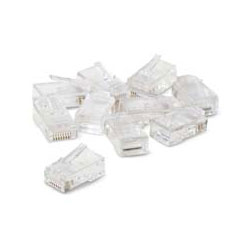 Belkin R6G088-R-10 Clear RJ45 Plugs w/Gold-Plated Contacts