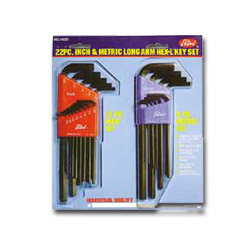 "Eklind Tool Company 22 Piece Combination Long HeX L® Key Set"" Molded Plastic Holders"