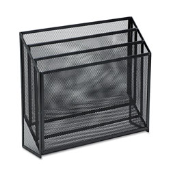 Eldon Expressions Wire Mesh Three Tier Organizer, Letter/A4 Size, Black