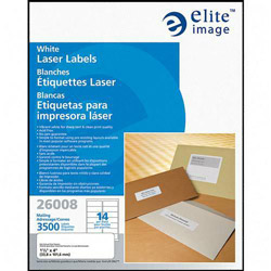 Elite Image Label Laser 1 1/3 X 4 White