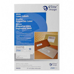 Elite Image Label Laser 2 X 4 White