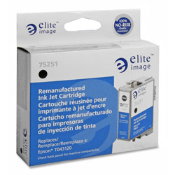 Elite Image 75251 Black Ink Cartridge for Epson Stylus C84, C86, 870 Pages