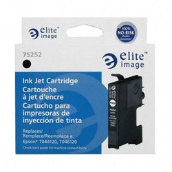 Elite Image 75252 Black Ink Cartridge for Epson Stylus C64/C66, 380 Pages