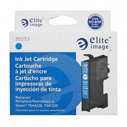 Elite Image 75253 Cyan Ink Cartridge for Epson Stylus C64/C66, 400 Pages