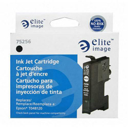 Elite Image 75256 Black Ink Cartridge for Epson Stylus Photo R200/R300, 450 Pages